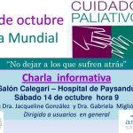 Invitación a charla informativa sobre Cuidados Paliativos